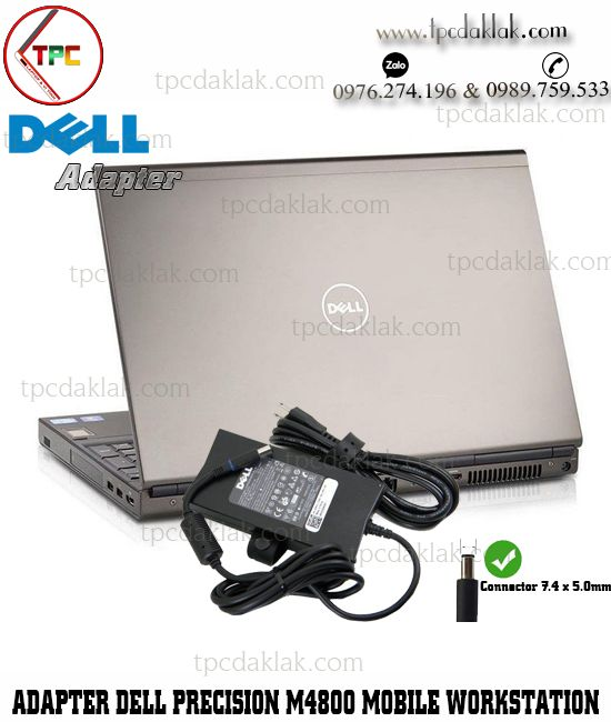 Sạc Laptop Dell Precision M4800 Workstation 19.V - 9.23A - 180W ( Connector 7.4 x 5.0 mm )