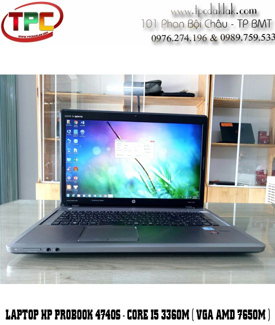 "Laptop HP ProBook 4740s ( CORE I5 3360M - RAM 4 GB - HDD 320GB - AMD 7650M 17.3"" HD+ )"