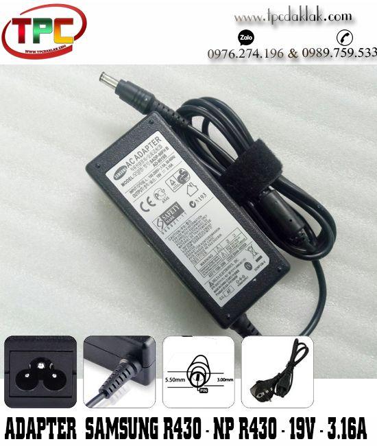 Sạc Laptop Samsung R430 - NP R430 19v-3.1a | Adapter Samsung 19v-3.16A SADP-90FH B ( 5.5 x 3.0 mm )