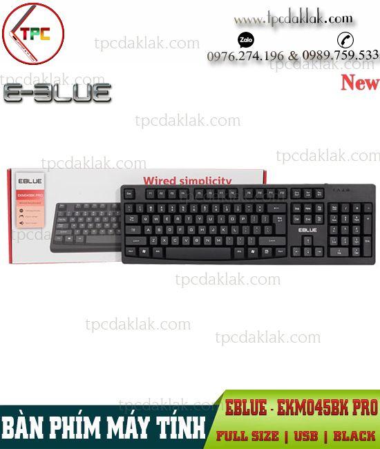 Bàn phím Vi Tính E-Blue EKM045BK Pro ( USB / Black ) | Keyboard Máy Vi Tính E-Blue EKM045BK Pro