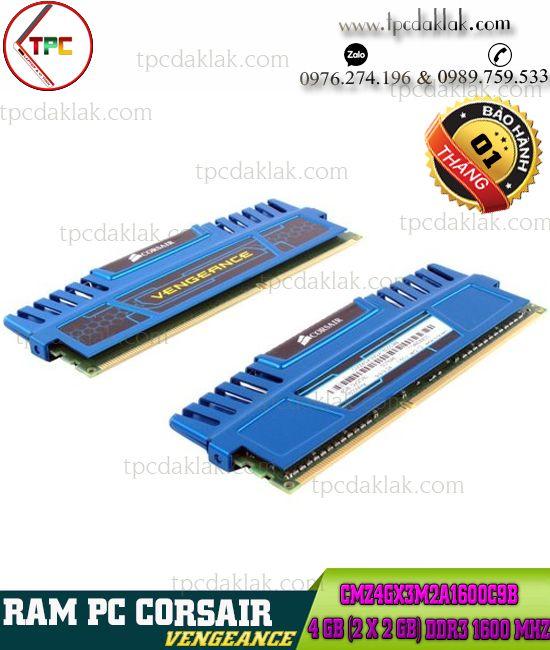 Ram PC ( Desktop ) | Ram Máy Vi Tính Corsair Vengeance 2GB DDR3 1600 Mhz |CMZ4GX3M2A1600C9B