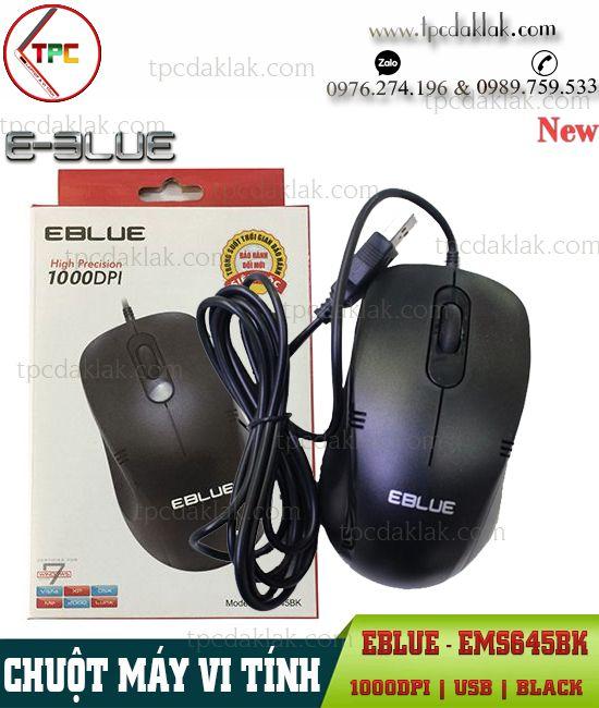 Chuột Máy Tính, Laptop E-Blue EMS645BK [ USB / Black  ] 1000DPI | Chuột Văn Phòng hoặc Game