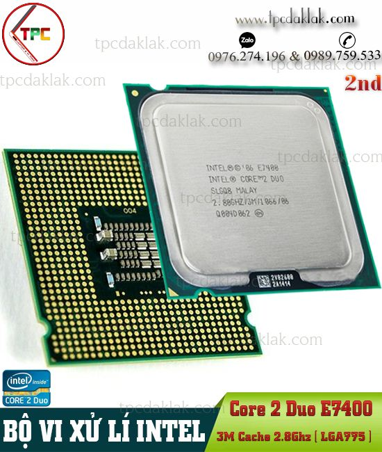 Bộ xử lý Intel® Core 2 Duo E7400 | CPU Intel® Core 2 Duo Processor E7400 ( 3M Cache, 2.8GHz, LGA775 )