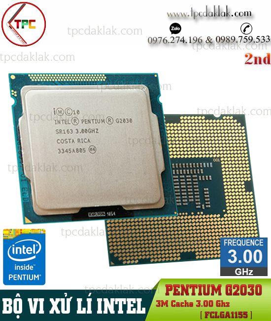 Bộ xử lý Intel® Pentium G2030| CPU Intel® Pentium G2030 ( 2 Core, 3M Cache, 3.0GHz, LGA1155 )