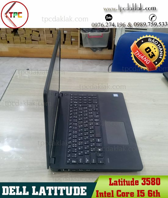 Laptop Dell Latitude 3580/ Intel Core i5 6200u/ Ram 4GB / SSD 128GB/ Graphics 520/ LCD 15.6-Inch HD