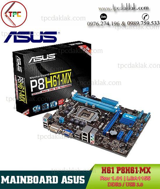 Mainboard Asus H61 P8H61-MX Rev 1.01 USB 3.0 | Bo Mạch Chủ Máy Tính Bàn Asus H61 LGA1155