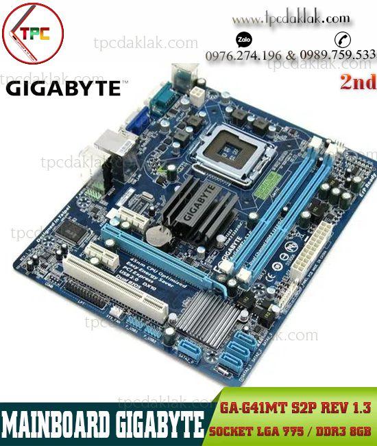 Mainboard Gigabyte GA-G41MT-S2P Rev 1.3 | Bo Mạch Chủ Máy Tính Bàn G41 LGA775 - PC3 8GB