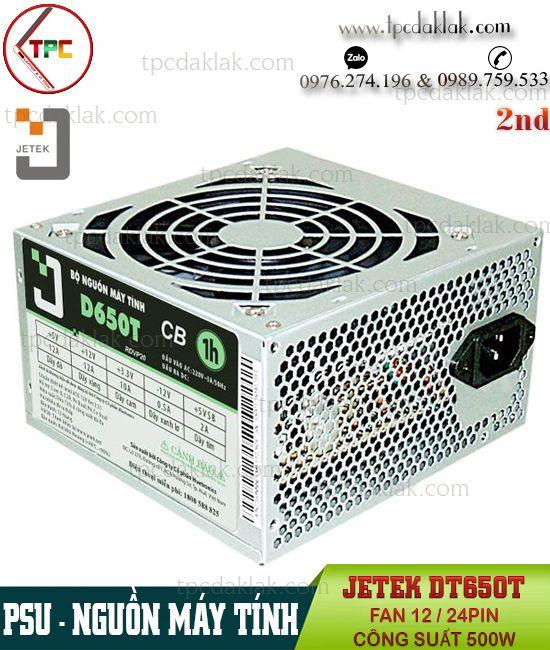 Nguồn máy tính ( PSU ) Jetek D650T ATX Fan 12 24PIN Công Suất 500W | Nguồn Máy Vi Tính