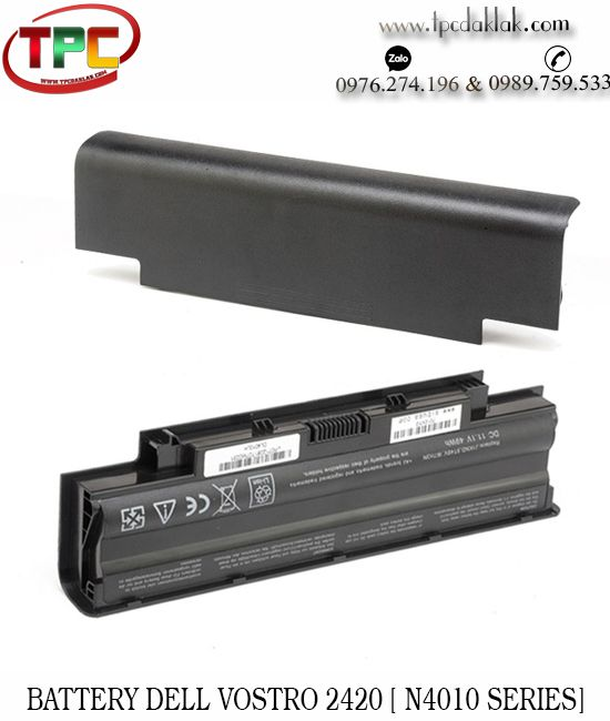 Pin Laptop Dell Vostro V2420,2520 3010 3555 P19G P19G001 | Battery Laptop Dell N4010 Seriess