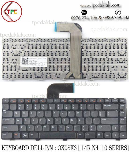 Bàn Phím Laptop Dell Vostro V1440 | Keyboard Laptop For Dell Vostro 3350 3450 3460 3550 3555