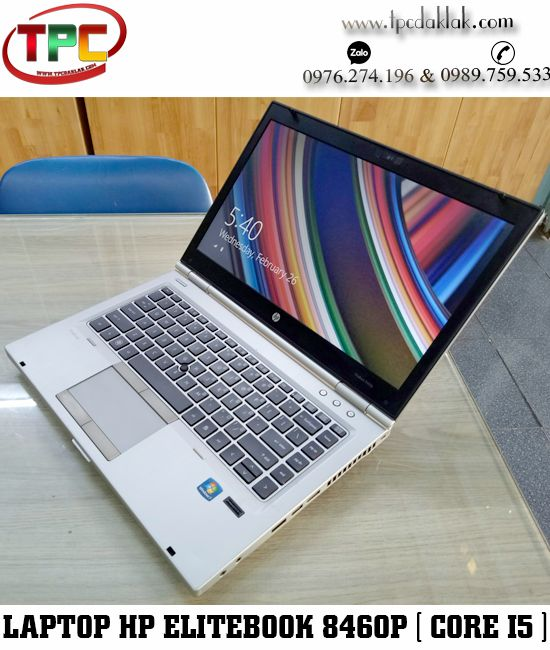 "Laptop HP EliteBook 8460p /  Core I5 2520M/ Ram 4GB / HDD 250GB /  HD Graphics 3000 / LCD 14"" HD"