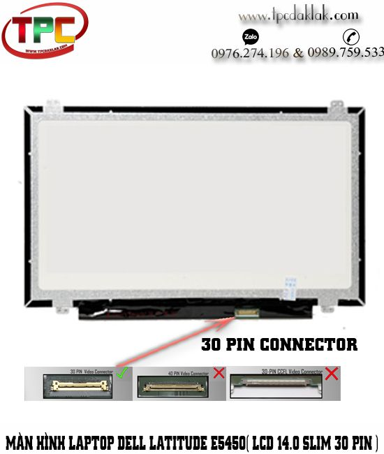 Màn hình Laptop Dell Latitude E5450 ( 14.0 Slim 30pin ) | Thay LCD Laptop Dell Latitude E5450