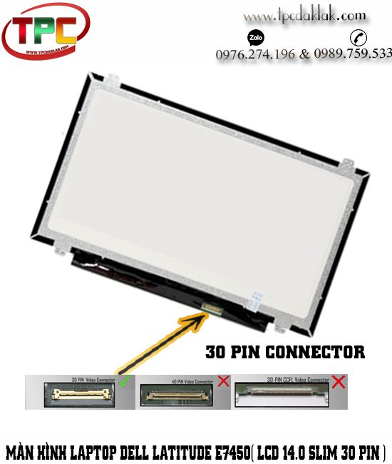 Màn hình Laptop Dell Latitude E7450 ( 14.0 Slim 30pin ) | Thay LCD Laptop Dell Latitude E7450