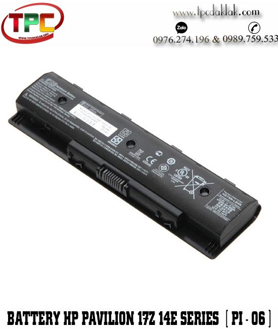 Pin Laptop HP Envy 14, 15, 17 P106, PI06, PI06XL, PI09 Original| Battery Laptop HP PI06, PI06XL, PI09
