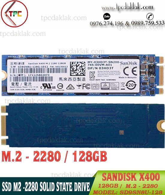 SSD M.2 2280 Sandisk X400 128GB 6Gb/s - SD8SN8U-128G-1012  | Ổ cứng SSD M2 2280 128GB Sandisk