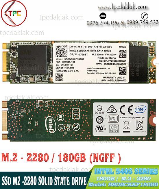 SSD M.2 Sata III 2280 Intel 540s Series - 180GB SSDSCKKF180H6 | Ổ cứng SSD M2 2280 180GB Intel