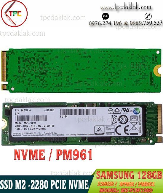 SSD Samsung NVMe PM961 M.2 PCIe Gen3 x4 128GB MZ-VLW1280 | Ổ cứng SSD NVME 128GB