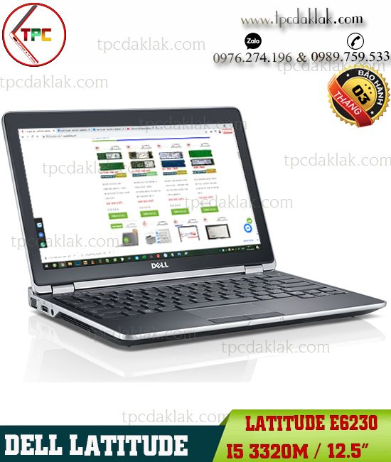 "Laptop Dell Latitude E6230 / Core I5 3320M / Ram 4GB / SSD 128GB / HD Graphics 4000 / 12.5"" HD"