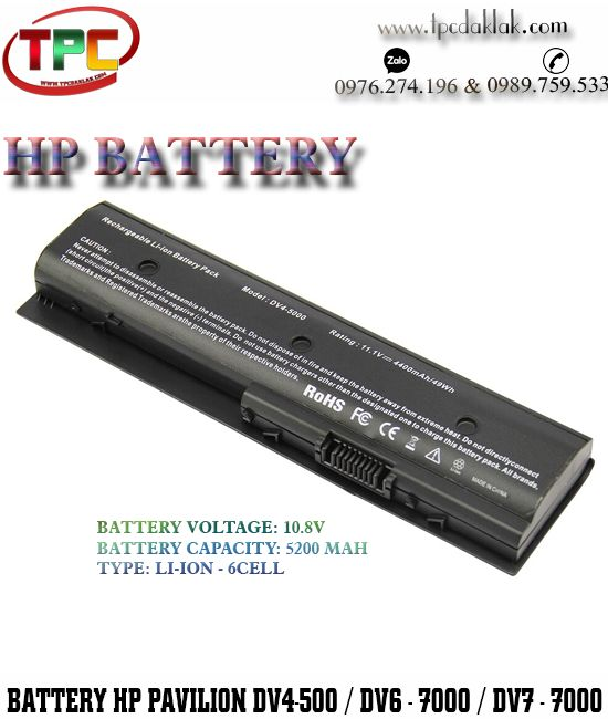Pin Laptop HP Envy DV4, DV6, DV7 Series - Pavilion dv4-5000, Pavilion dv6-7000, Pavilion dv7-7000
