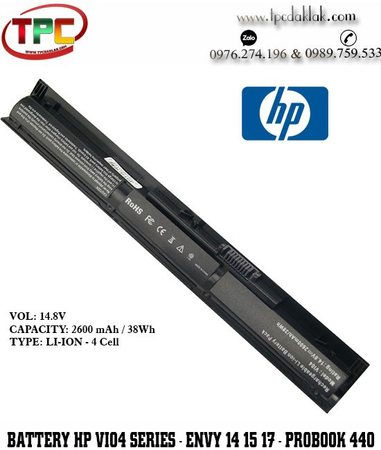 Pin Laptop HP Envy 14-v000, Envy 15-k000,  445 G2- VI04 Original| Battery Laptop HP VI04