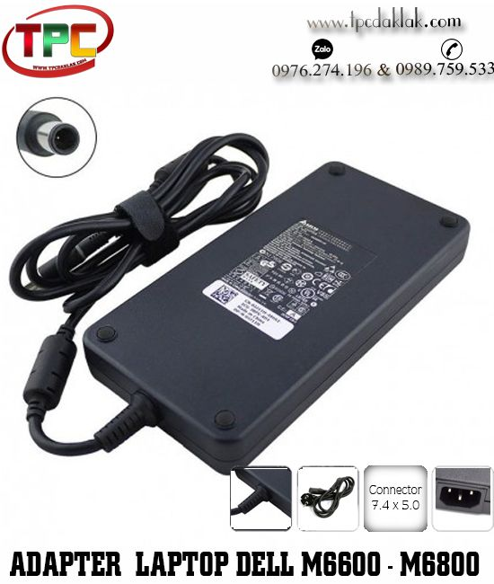 Sạc Laptop Dell Precision M6600 - M6700 - M6800 Original | Adapter Laptop Dell 19.5V - 12.3A - 240W
