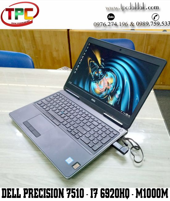 Laptop Dell Precision 7510 I7 6920HQ / Ram 16GB / SSD 512GB /Nvidia Quadro M1000M / 15.6' FHD IPS