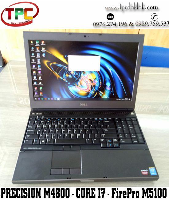 "Laptop Dell Precision M4800 / I7 4810Mq / Ram 8GB / SSD 256GB / VGA AMD FirePro M5100 / 15.6"" FHD"