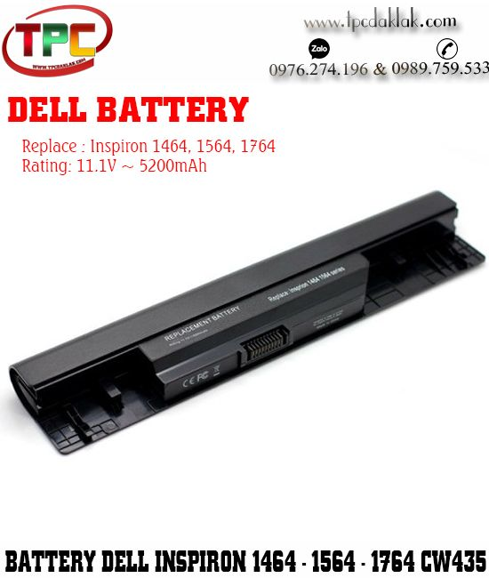 Pin Laptop Dell Inspiron 14 ( 1464 ) - Inspiron 15 ( 1564 ) - Inspiron 17 ( 1764 )  0FH4HR, CW435