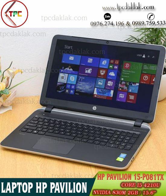 "Laptop HP Pavilion 15-P081tx / Core I5 4210U / Ram 4GB / SSD 128GB / Nvidia 830M 2GB / LCD 15.6"" HD"