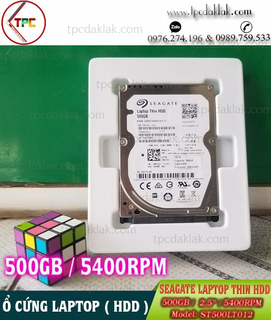 "Ổ cứng Laptop - HDD Seagate 500GB 2.5"" Sata 3 5400RPM ST500LT012 | HDD 2.5"" 500GB"