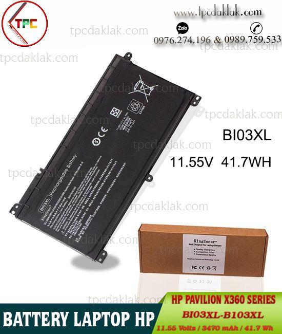Pin Laptop HP Pavilion 14-Ax, X360 , 13-U, 11-U, M3-U, BI03XL, ON03XL | Battery Laptop HP BI03XL