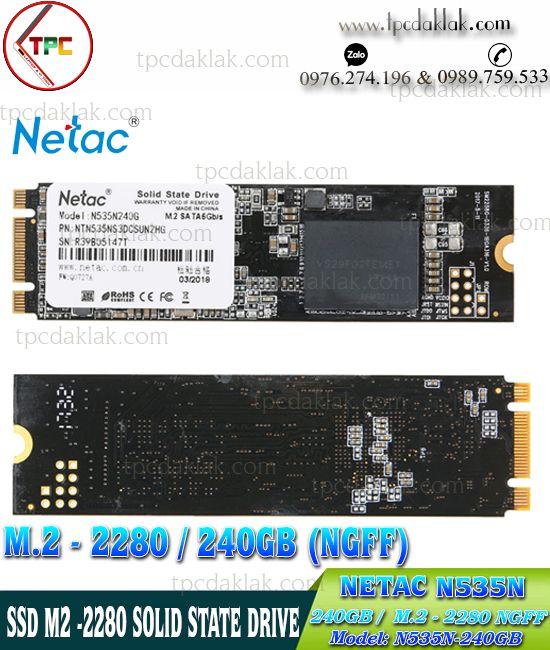 SSD M.2 Sata III 2280 NGFF - NETAC N535N-240GB - N535N240G | Ổ cứng SSD M2 2280 240GB