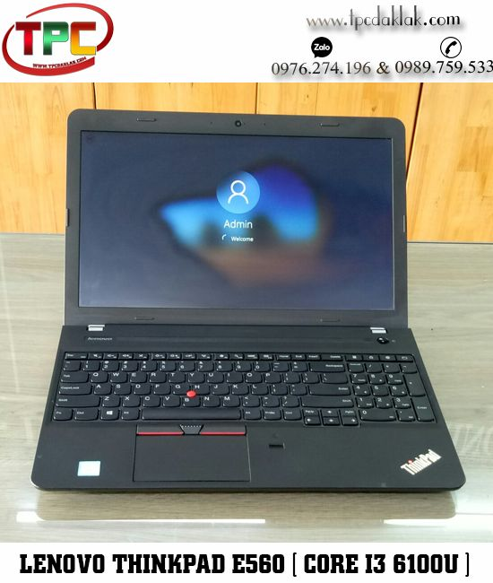 "Laptop Lenovo Thinkpad E560 / Core I3 6100U / Ram 4GB / Graphics 520 / HDD 500GB / LCD15.6""HD"