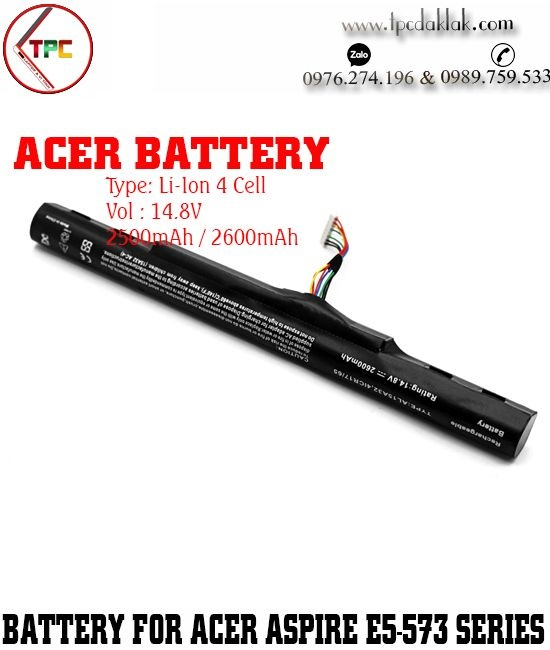 Pin Laptop Acer Aspire E5-573, E5-473,  E5-522 E5-522G E5-532 E5-532T AL15A32 AL15A32