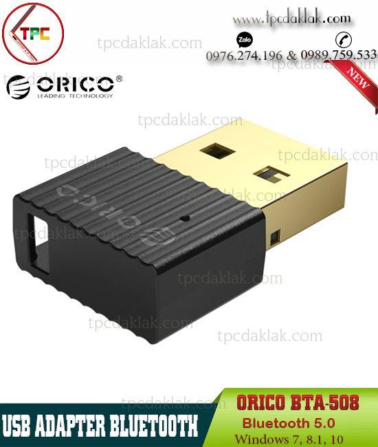 USB Adapter Bluetooth Orico BTA-508 RTL8761B   USB Bluetooth 5.0 Windows for Laptop, PC