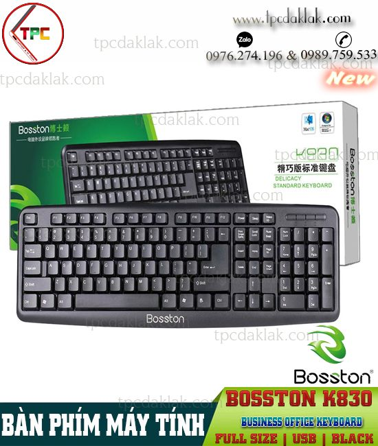 Bàn phím Vi Tính Bosston K830 ( USB / Black ) | Bàn phím ( Keyboard ) văn phòng Bosston K830