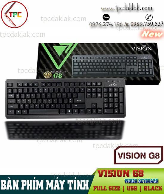 Bàn phím Vi Tính Vision Wired Keyboard G8 ( USB / Black ) | Keyboard Máy Vi Tính Vision G8