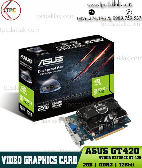 Card màn hình Asus GT 420 - 2GB - DDR3 - 128Bit | VGA máy tính bàn Asus GT420 ( HDMI - DVI - VGA )