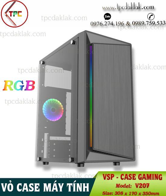 Vỏ ( Case ) máy tính bàn VSP V207 ( Chưa Fan ) | Case Desktop PC Gaming VSP V207 ( USB 3.0 - LED RGB )