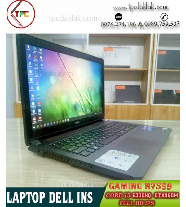 Laptop Dell Inspiron 15 N7559 / Core I5 6300HQ / Ram 8GB / SSD 180GB + HDD 1TB / GTX 960M / 15.6 FHD