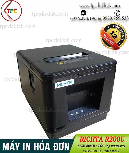 Máy in hóa đơn Richta R200U ( USB ) - MÁY IN BILL R200U ( MÁY IN NHIỆT MINI RICHTA R200U USB, RJ11 )