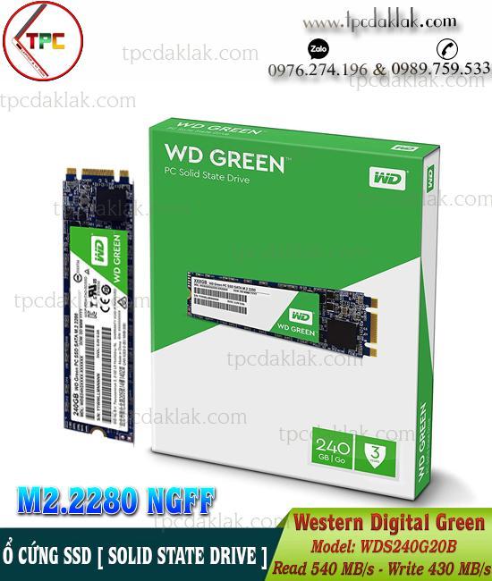 Ổ cứng SSD WD ( Western Digital ) Green Sata M.2 2280 240GB WDS240G2G0B | Ổ cứng máy tính, laptop
