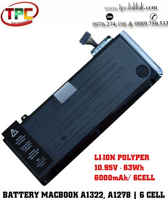 "Pin Macbook Pro 13"" A1322, A1278 Original | Battery For Macbook Pro 13"" A1322, A1278 Series"