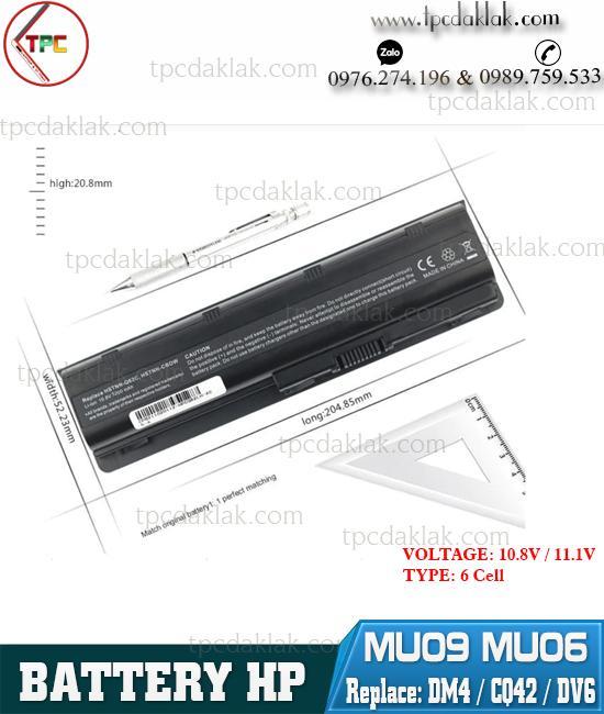 Pin Laptop HP CQ42 CQ43 CQ56 - HP Pavilion G4 G6 G7 DV6 DV7 DM4 MU09 MU06  HSTNN-DB0W