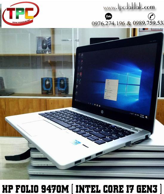 "Laptop HP Elitebook Folio 9470M / Core I7 3687U / Ram 4GB / SSD 128GB / Graphics 4000 / LCD 14"" HD+"