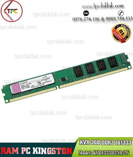 Ram PC ( Desktop ) | Ram Máy Vi Tính Kingston 2GB ( PC3 - 10600 ) DDR3 1333Mhz | KVR1333D3N9/2G