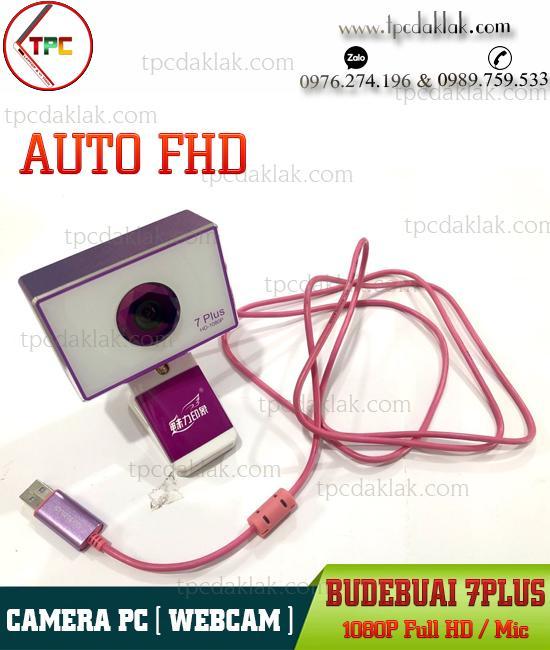 Webcam BudeBuai-7Plus Full HD 1080p | Camera máy tính bàn tự động lấy nét, tích hợp Microphone