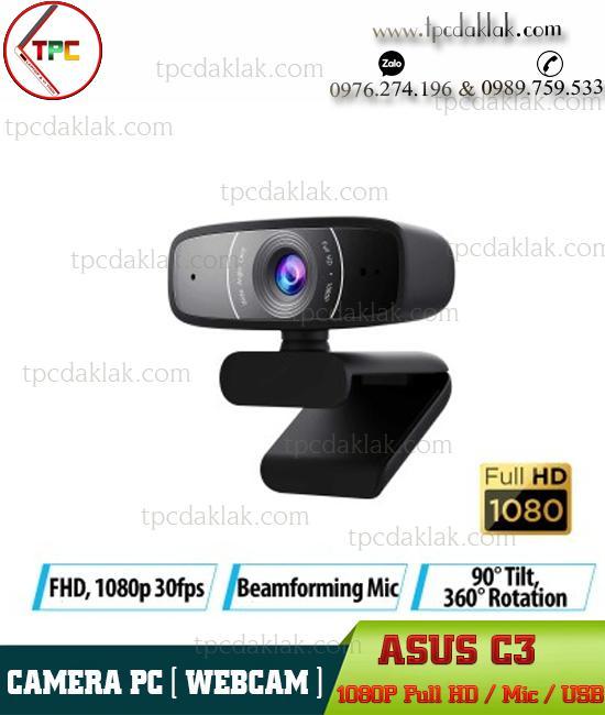Webcam Asus C3 Full HD 1080p ( Video & Mic ) | Camera Máy Tính Asus C3 Full HD ( Lấy Nét Tự Động )