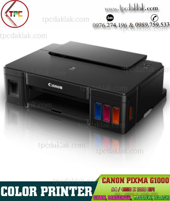 Máy in màu Canon Pixma G1000 | Color Printer Canon Pixma G1000 - GI-790 (Cyan, Magenta, Yellow, Black)