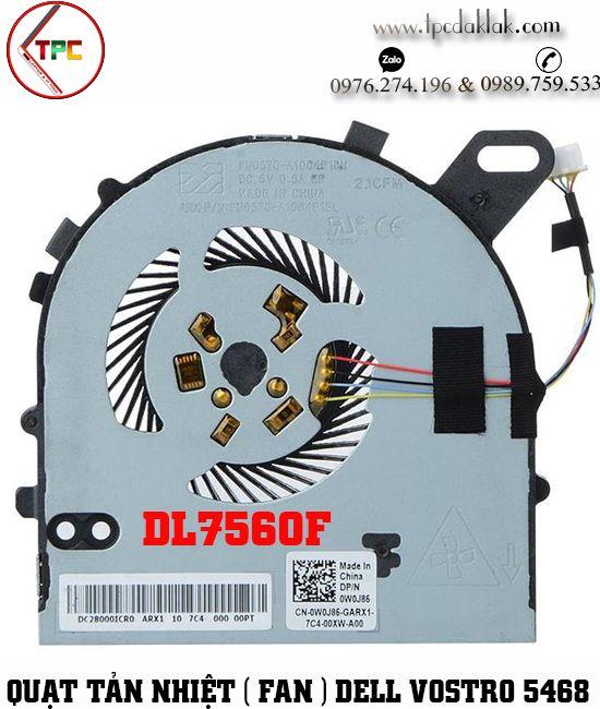 Quạt tản nhiệt [ Fan CPU ] Laptop Dell Vostro 14 V5468 V5568 - Inspiron 15 7560 DL7560F